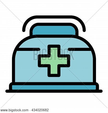 Clinical Food Icon. Outline Clinical Food Vector Icon Color Flat Isolated