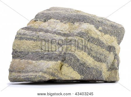 Syrové chrom ruda izolovaných na bílém pozadí