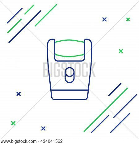 Line Electric Razor Blade For Men Icon Isolated On White Background. Electric Shaver. Colorful Outli