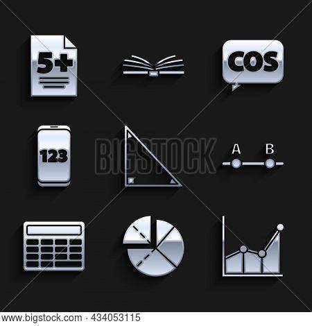 Set Triangle Math, Graph, Schedule, Chart, Diagram, Calculator, Mobile Calculator Interface, Mathema