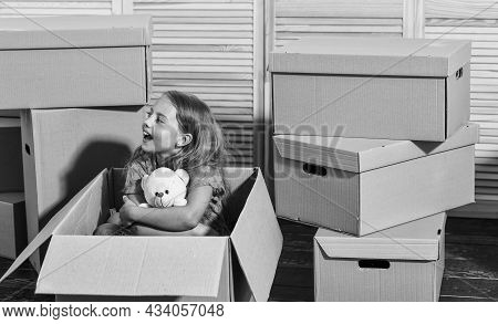 Sweet Home. Rent House. Family House. Delivering Service. Apartment For Family. Girl Child Play Box.