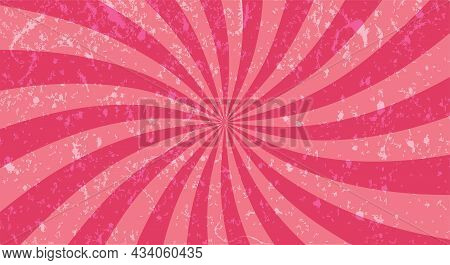 Sunburst Or Sun Burst Retro Background. Ray Stripes.