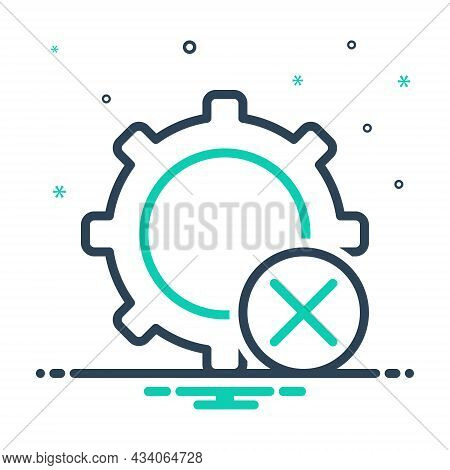 Mix Icon For Dismiss Cancel Setting Circle Remove Delete Cut-out Clear Cancellation