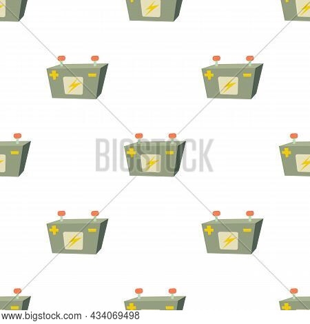 Car Battery Pattern Seamless Background Texture Repeat Wallpaper Geometric Vector