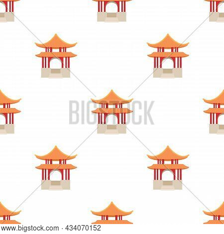 Pagoda Pattern Seamless Background Texture Repeat Wallpaper Geometric Vector