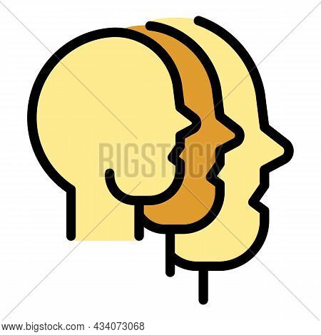 People Interaction Icon. Outline People Interaction Vector Icon Color Flat Isolated