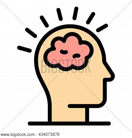 Brainstorming Icon. Outline Brainstorming Vector Icon Color Flat Isolated