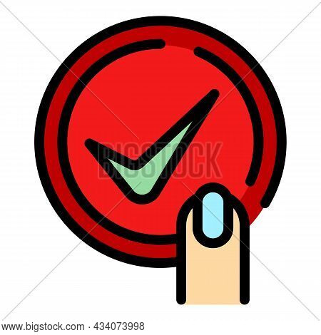 Touch Experience Icon. Outline Touch Experience Vector Icon Color Flat Isolated