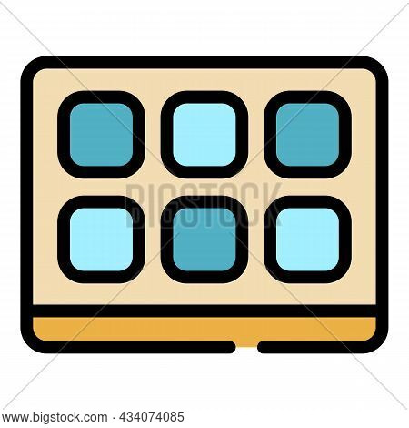 Smart Interactive Tv Icon. Outline Smart Interactive Tv Vector Icon Color Flat Isolated
