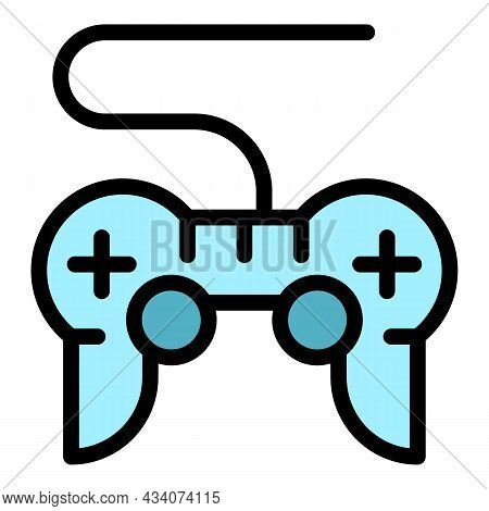 Joystick Interactive Tv Icon. Outline Joystick Interactive Tv Vector Icon Color Flat Isolated