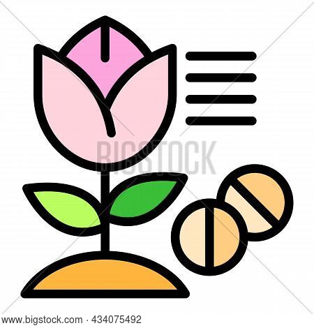 Plant Allergy Icon. Outline Plant Allergy Vector Icon Color Flat Isolated