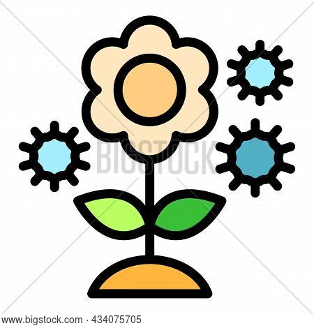 Pollen Allergy Icon. Outline Pollen Allergy Vector Icon Color Flat Isolated