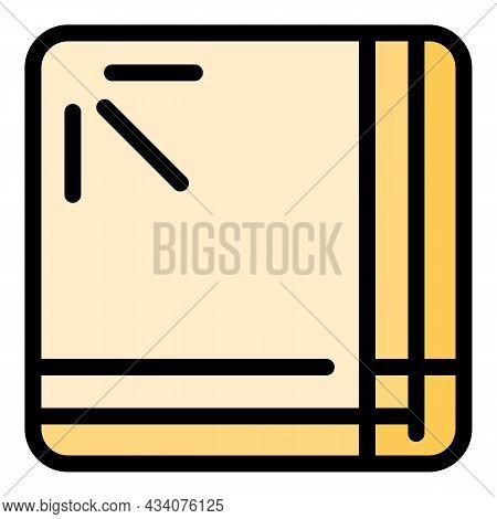 Kitchen Handkerchief Icon. Outline Kitchen Handkerchief Vector Icon Color Flat Isolated