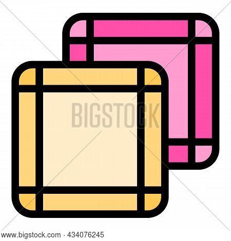Nose Handkerchief Icon. Outline Nose Handkerchief Vector Icon Color Flat Isolated