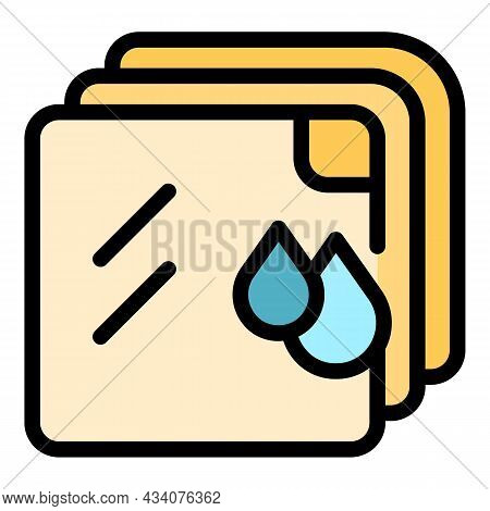 Hygiene Handkerchief Icon. Outline Hygiene Handkerchief Vector Icon Color Flat Isolated