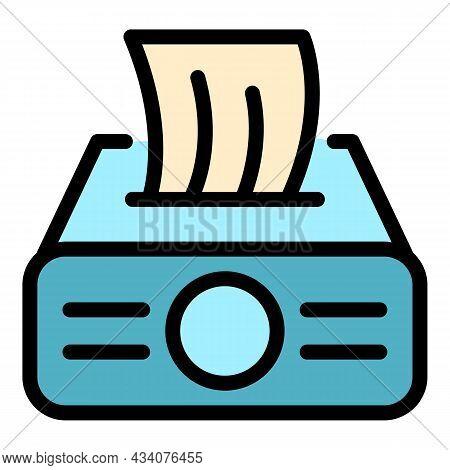 Restaurant Handkerchief Icon. Outline Restaurant Handkerchief Vector Icon Color Flat Isolated