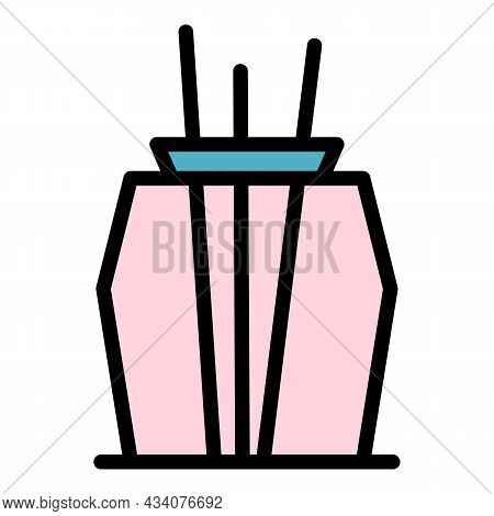 Container Air Freshener Icon. Outline Container Air Freshener Vector Icon Color Flat Isolated