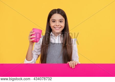 For The Thirsty. Thirsty Girl Hold Plastic Cup. Drinking Water Or Refreshing Drink. Beverage Adverti