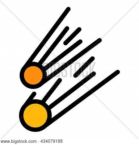 Astrology Asteroid Icon. Outline Astrology Asteroid Vector Icon Color Flat Isolated