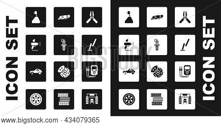 Set Car Battery Jumper Power Cable, Spark Plug, Paint Spray Gun, Gear Shifter, Windscreen Wiper, Hea