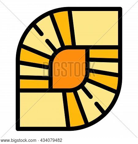 Spiral Staircase Icon. Outline Spiral Staircase Vector Icon Color Flat Isolated