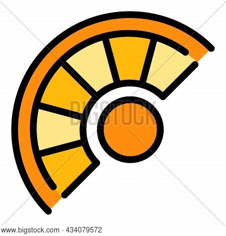 Curved Staircase Icon. Outline Curved Staircase Vector Icon Color Flat Isolated
