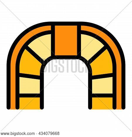 Top View Staircase Icon. Outline Top View Staircase Vector Icon Color Flat Isolated