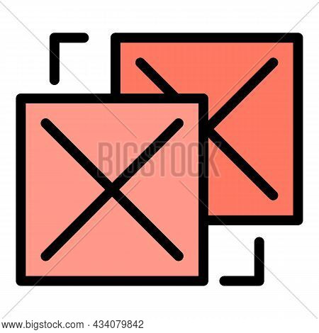 Online Redesign Icon. Outline Online Redesign Vector Icon Color Flat Isolated