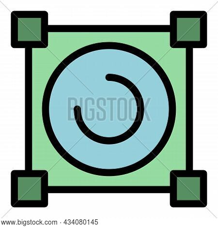Creation Redesign Icon. Outline Creation Redesign Vector Icon Color Flat Isolated