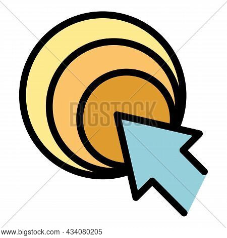 Update Redesign Icon. Outline Update Redesign Vector Icon Color Flat Isolated