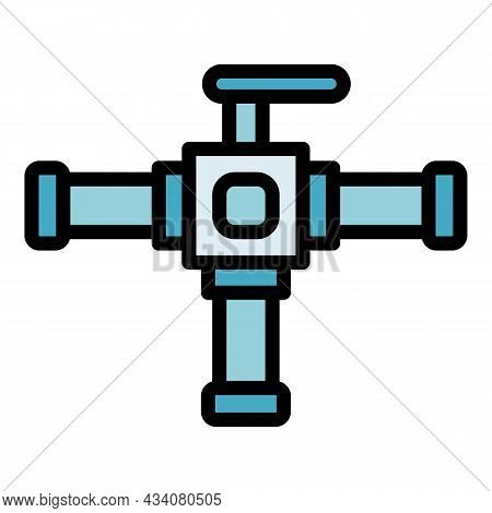 Pool Tap Icon. Outline Pool Tap Vector Icon Color Flat Isolated