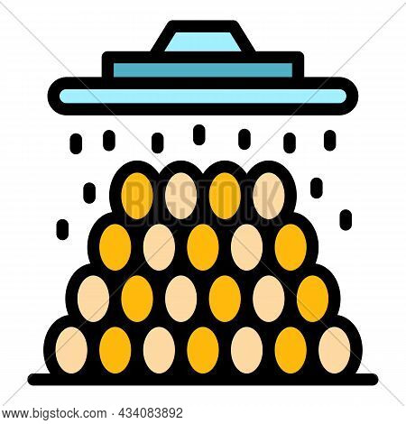Processed Coffee Beans Icon. Outline Processed Coffee Beans Vector Icon Color Flat Isolated