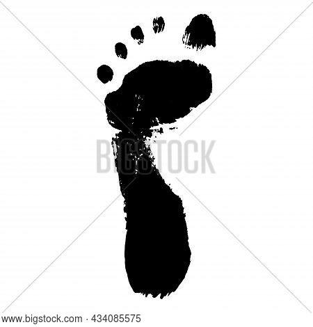Footprint Of Child. Imprint Of Boy Foot, Texture. Vector Illustration