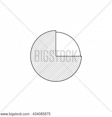 Pie Chart Vector Thin Line Icon. Diagram Pie Chart Hand Drawn Thin Line Icon.