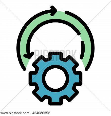 Setting Adaptation Icon. Outline Setting Adaptation Vector Icon Color Flat Isolated