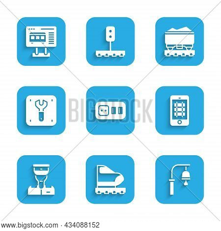 Set Electrical Outlet, High-speed Train, Train Station Bell, Buy Ticket Online, Conductor, Repair Of