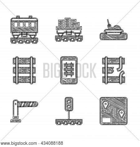 Set Buy Train Ticket Online, Train Traffic Light, Route Location, Broken Rails Railway, Railway Barr