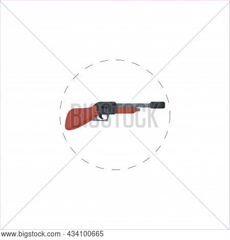 Shotgun Vector Colorful Clipart. Shotgun Flat Illustration.