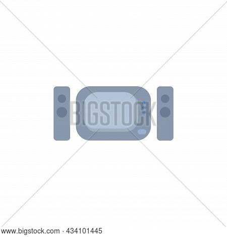 Home Theater Vector Colorful Clipart. Home Theater Flat Illustration
