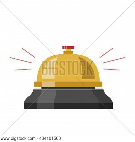 Hotel Call Vector Colorful Clipart. Hotel Call Flat Illustration