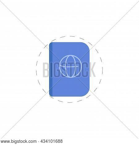 International Passport Vector Colorful Clipart. International Passport Flat Illustration