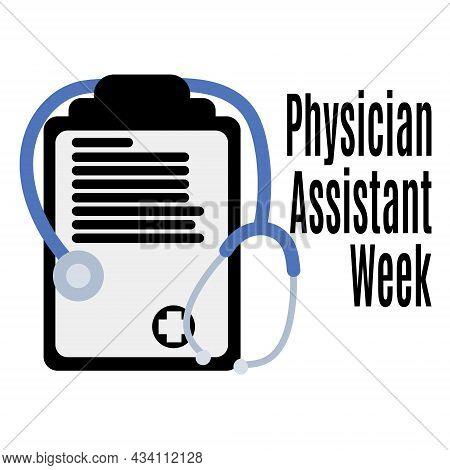 Physician Assistant Week, Medical Poster, Banner Or Flyer Idea Vector Illustration