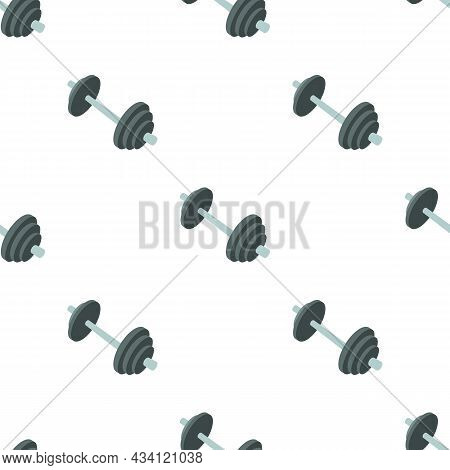 Barbell Pattern Seamless Background Texture Repeat Wallpaper Geometric Vector