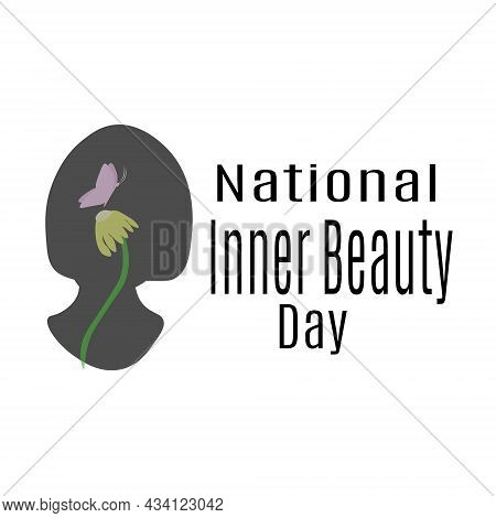 National Inner Beauty Day, Idea For A Poster, Banner Or Flyer On A Socially Significant Topic Vector