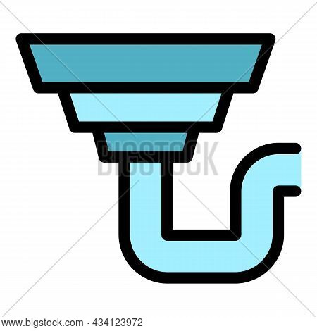 Cover Gutter Icon. Outline Cover Gutter Vector Icon Color Flat Isolated