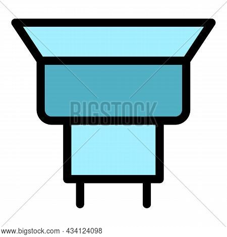 Maintenance Gutter Icon. Outline Maintenance Gutter Vector Icon Color Flat Isolated