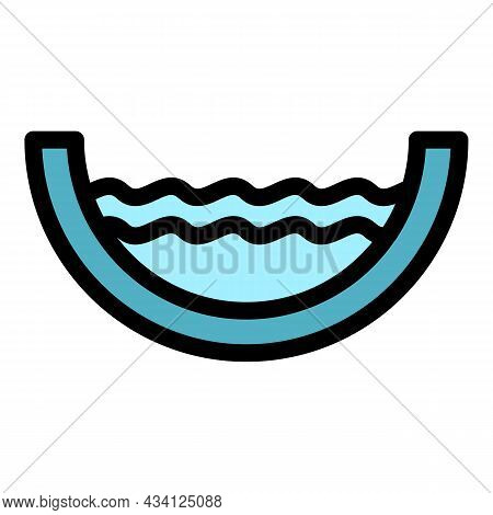 Full Water Gutter Icon. Outline Full Water Gutter Vector Icon Color Flat Isolated