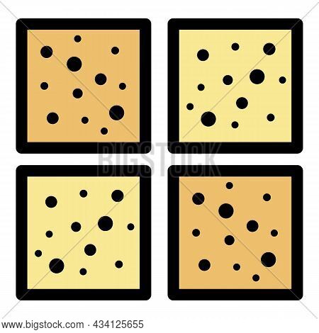 Granite Paving Icon. Outline Granite Paving Vector Icon Color Flat Isolated