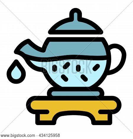 Tea Ceremony Icon. Outline Tea Ceremony Vector Icon Color Flat Isolated