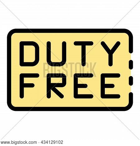 Welcome Duty Free Icon. Outline Welcome Duty Free Vector Icon Color Flat Isolated